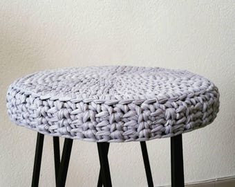"""Cover for round stool on measurement and color choice, violet - model """"MARYLIN"""""""