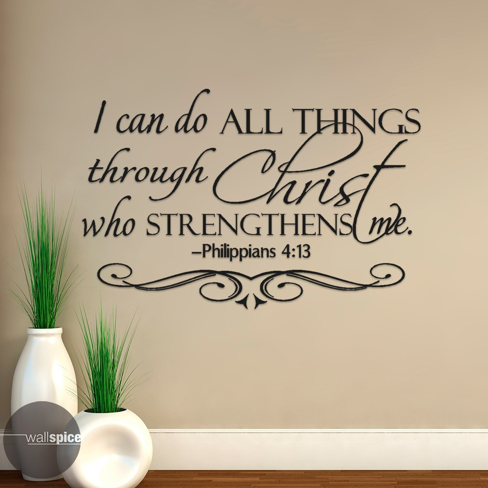 Filipenses 4 13 Todo Lo Puedo En Cristo Que Me Fortalece # Muebles Filipenses