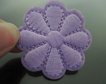 Light Purple Flower Patch Flower patches Badge patch Applique embroidered patch Iron On Patch Sew On Patch