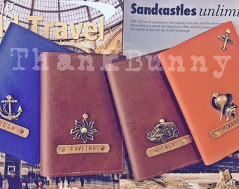 Set of Four - Personalized Passport Covers