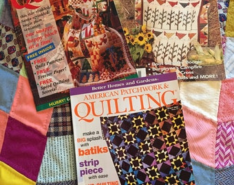 Lot of 3 Quilting Magazines- Fons&Porters, BHG Patchwork, Oxmoor House Quiltd