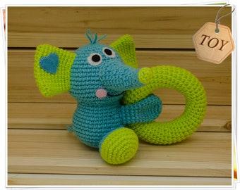 Crochet Elephant, Amigurumi Elephant, Blue Elephant Toy, Stuffed Elephant, Handmade Elephant, Plush Elephant, Baby Elephant, Soft Elephant