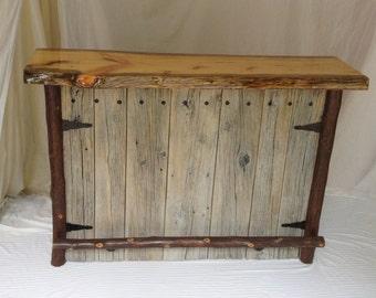 Bar, Home Bar, Rustic Bar, Wine Storage, Barn Wood Bar, Barnwood