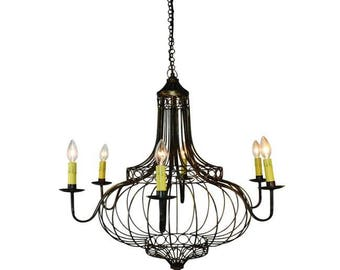 Faux Bronze Onion Dome Design Eight Light Chandelier Fixture