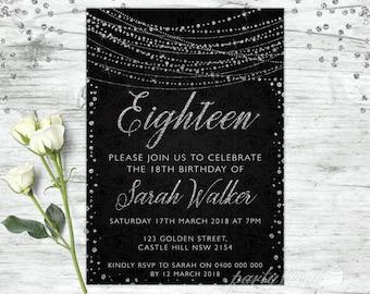 18th invitations etsy 18th birthday invitations solutioingenieria Choice Image
