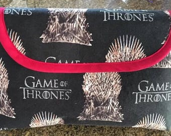 Game of Thrones Inspired Cosmetics Makeup Bag with Brush Holder