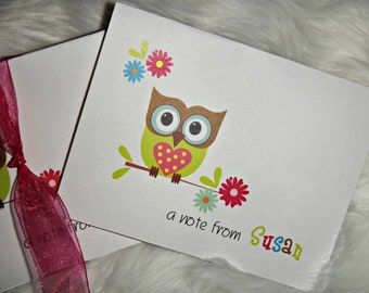 SALE Super Cute Owl Stationery set Perfect gift idea Note Cards Address Labels Notepad Handmade Monday Cyber Monday Black Friday Sale
