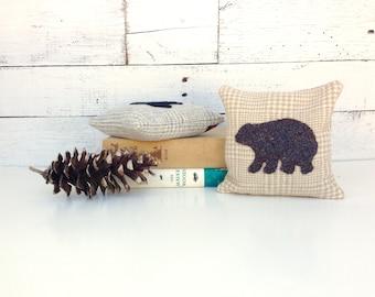 Brown Bear Decor, Bear Decor Pillow, Rustic Bear Pillow, Rustic Bear Decor, Balsam Pillow, Woodland Bear, Woodland Animals Decor