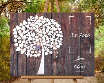 Wedding tree Wedding guest book Fingerprint tree