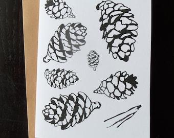 Pine cone card