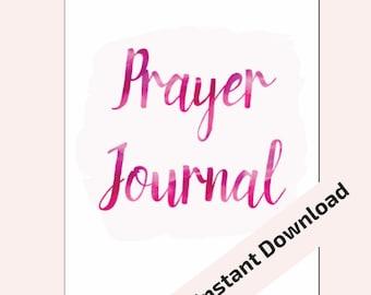 "Prayer Journal 5.5""x8.5"" Midori/Traveler's Notebook Inserts Printable. INSTANT DOWNLOAD"
