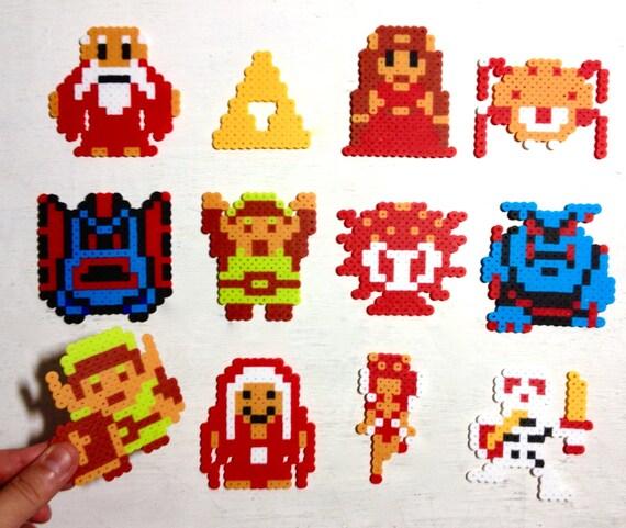 Leyenda de Zelda Retro juego de Video arte. Perler cuentas 8