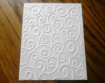 DIVINE SWIRLS Embossed Card Stock Panels Perfect for Scrapbooking and Card Making - Set of 12