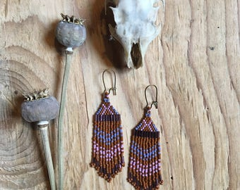 Beyla // Seed Bead Earrings //