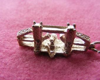 J) Vintage Sterling Silver Charm London Tower Bridge