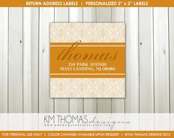 Thanksgiving Return Address Label - Fall Return Address Labels - Autumn Return Address Labels - Fall Mailing Labels - Printable - F107