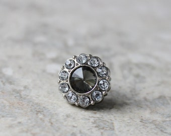 Black Diamond Tie Tack Pins, Mens Gifts, Gifts for Him, Mens Tie Pins, Gift for Groom, Gift for Man, Mens Fashion Accessories, Tie Tacks