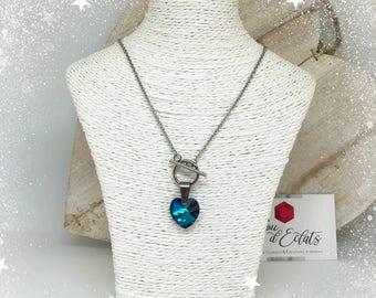 Necklace heart Swarovski® - blue