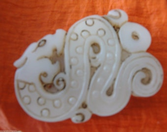 Beautiful Chinese Jade(?) Dragon Pendant.