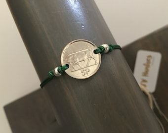 Irish Coin / Bull / Ireland / USF / Adjustable Cording / One size fits all - qty 1
