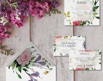 Printable invitations for marriages-ROMA model