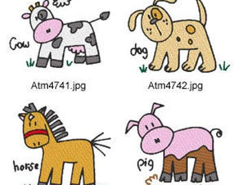 A-Kids-View-Animals-2  ( 7 Machine Embroidery Designs from ATW ) XYZ17D