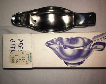 Vintage Stainless Steel Bird Lemon Squeezer Made in France in Original Box