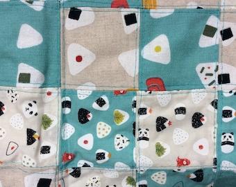 Panda Onigiri Decorative Quilt