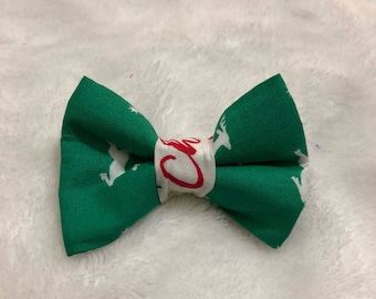 Green Reindeer Bow Tie- Cats and Dogs
