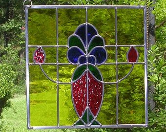 Stained Glass Panel, Traditional Stained Glass Panel