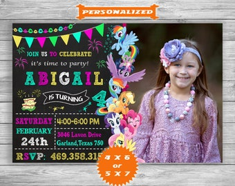 My Little Pony Invitation, My Little Pony Birthday, My Little Pony Invite, My Little Pony Party, My Little Pony – Printable Digital File