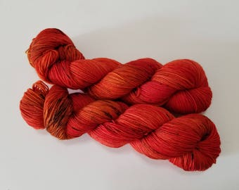 DYED TO ORDER - Sugar Maple Leaf - the brilliant deep oranges and reds that pop on sugar maple trees! Looking forward to fall!