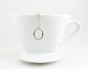"Letter ""O"" Loose Tea Infuser Tea Strainer Mesh Loose Leaf Tea"