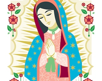 """Our Lady of Guadalupe Art Print, 5""""x7"""" and 8""""x10"""""""