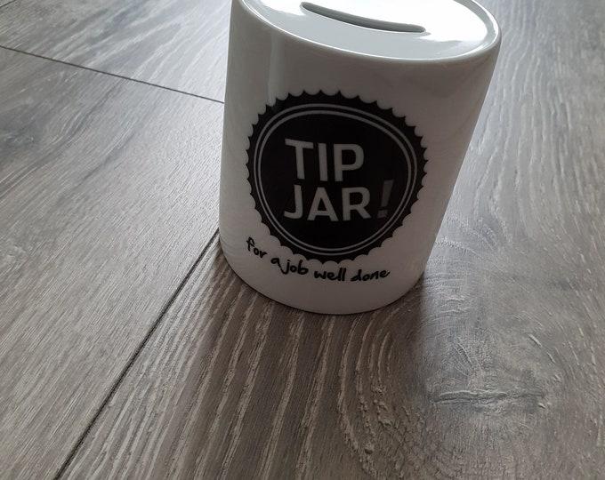 Personalised Tips Jar