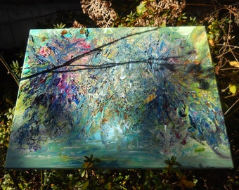 Monet Waterlife Impressions, Abstract Waterlife, Impressionism,Original Oil 16,20, Kathleen Leasure, FromGlenToGlen