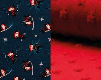Baby blanket - Baby boy ninja blanket - Red stars Minky Blanket - Baby shower gift - Newborn - Baby bedding - Nursery decor - baby gift
