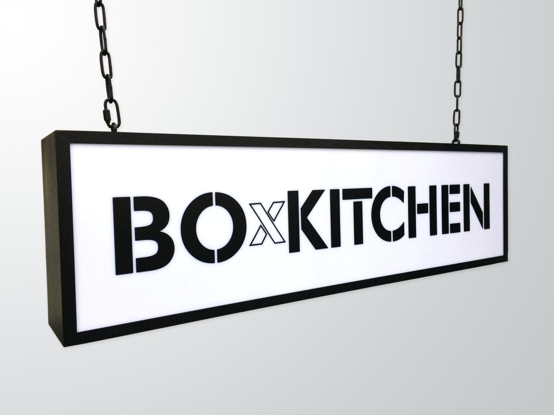 Cinema Light Box Custom Text Or Logo. Light Box Custom Sign