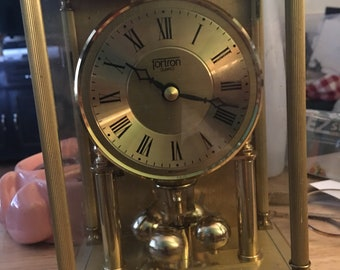 Vintage Fortron Anniversary carriage clock ....free shipping !!
