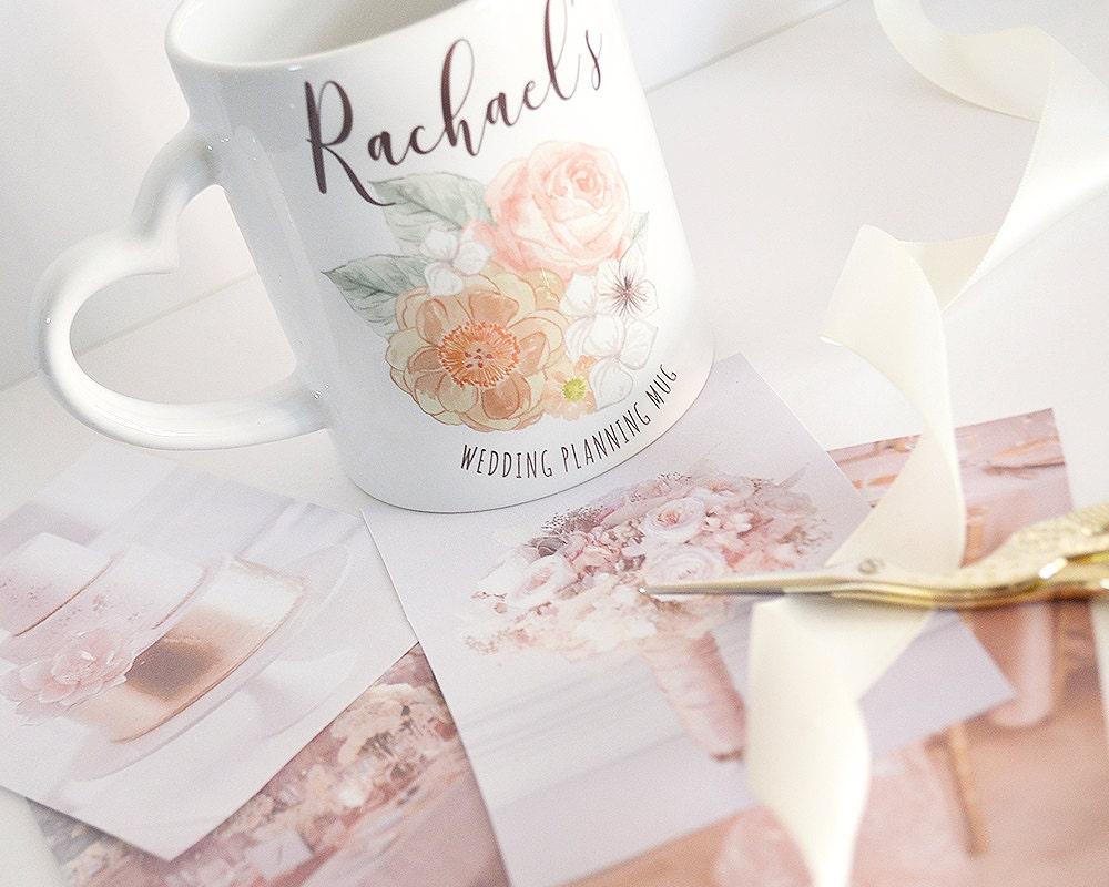 Wedding Planning Mug Personalised Wedding Mug Wedding Gift