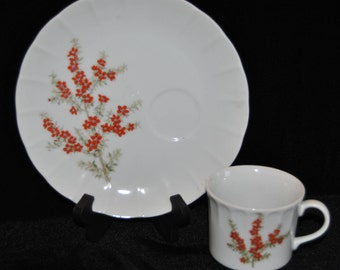 Snack Plate with Floral Design Tuscany