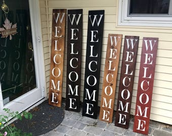 Wood Welcome Sign, Wooden Welcome Sign, Rustic Welcome Sign, Porch Welcome sign
