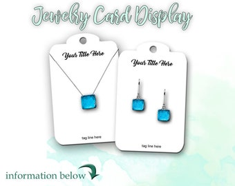 Earring Card |  Jewelry Cards | Custom Jewelry Cards | Tags | Necklace Cards | Product Display