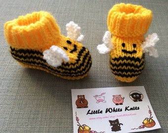 bumblebee baby booties knitting pattern animal baby boots bee shoes socks boy baby girl baby slippers winter gift