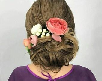 Blush flower crown, Blush floral crown, Blush wedding flowers, Blush pink flower crown,Silk bridal flowers, Maternity photo flower crown.