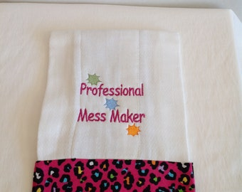 Embroidery Burp Cloths Set Of 3