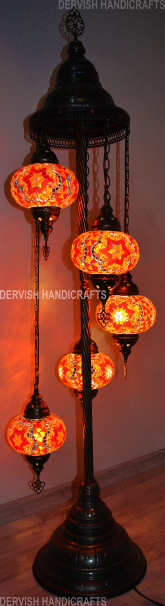 Floor lamp chandelier lighting lamp shade moroccan decor like this item mozeypictures Image collections