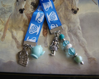 Blue Tea Bookmark