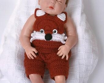 Crochet baby pattern, Baby Fox Crochet pattern, baby pattern, baby Halloween costume, baby shower gift, baby fox photo prop, Fox Outfit