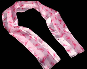 Pink Breast Cancer Awareness Silky Scarf